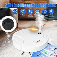 5-in-1 Интеллектуальный подметающий робот бытовой спрей Ультрафиолетовая зарядка подметание вакуумная вымотание 50W очистка машины1