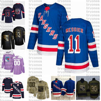 2021 Reverse Retro Anpassen 11 Mark Morgendeiser New York Rangers Hockey Jersey Golden Edition Camo Veterans Tageskämpfe Krebsnähte Jersey