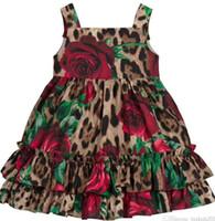 Nuevo vestido de verano para niños de alta calidad Vestidos de niños Vestidos de manga cortos Vestido de niños