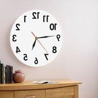(إعلان) 1 قطعة عكس جدار الفن الزخرفية ساعة الحائط الوريد الوقت ساعة حديثة ساعة الحائط الحديثة تصميم ساعة هدية عيد ميلاد Y200109