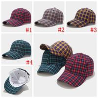 Mode hiver Casquettes de baseball à carreaux Hommes Femmes Streetwear Snapback Hip Hop Trucker chapeau chapeau de baseball à carreaux chapeaux de fête