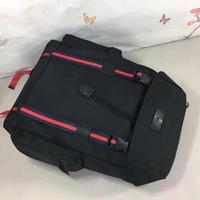 Klasik Çevirme Nakış Luxurys Tasarımcılar Sırt Çantaları Erkekler Büyük Gerçek Deri Tuval Erkek Sırt Çantası Bayanlar Çanta Çanta Boyutu 32 * 45 * 14 cm