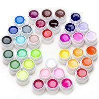 LED UV 젤 네일 폴란드어 순수한 컬러 네일 UV 젤 세트 키트 세미 영구 손톱 아트 젤 래커
