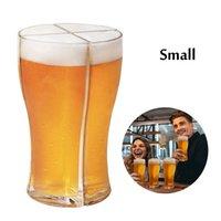 4 em 1 copo de cerveja Creative engraçado cerveja óculos acrílicos caneca de cerveja de cerveja super óculos de vinho super schooner para festa cca12658 transporte marítimo