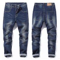Jeans masculinos para hombre 2021 más tamaño Marca de alta calidad Pantalones de mezclilla Masculina Moda azul Bolso suelto grande 42 44 46 48,730