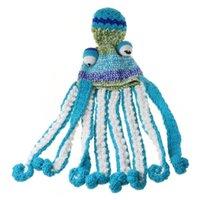Halloween mano tessuto a maglia maglia beanie cappello divertente gradiente cartone animato polpo tentacleys occhi cranio cappuccio cosplay party copricapo