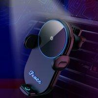 Caricabatterie wireless V30 Caricabatterie per PC ABS ABS Automatico Gravity Qi Caricabatteria da auto wireless Mount supporto telefonico ricarica rapido