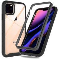 360 Caixa de armadura fina de corpo full com moldura frontal para iPhone 12 11 Pro max Xs XR X 8 7 Samsung S10 S20 Fe Plus Note 20 Ultra A20 A30 A50 A50 A70