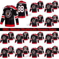 Chicago Blackhawks Jersey 2020-21 Reverse Retro 19 Jonathan Toovs 88 Patrick Kane 00 Clark Griswold 12 Alex Debrincat Hockey Jerseys