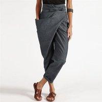 2021 Primavera Vintage Oficina de Damas Elegantes Pantalones Negros Coreanos Pantalones sueltos Juegos de Mujeres Pantalón Grande a Life Llanuras Altas