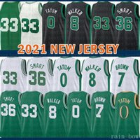 2021 New Jayson 0 Tatum Basketball Jersey Kemba 8 Walker Mens Larry 33 Bird Youth Kids Jaylen 7 Brown Mesh Retro Marcus 36 Smart 20 Hayward