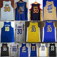 2021 New City Stephen 30 Curry James 33 Wiseman Tim 10 Hardowaway Basketball Jersey NCAA Jersey Blue Branco Black Color