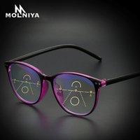 Gafas de lectura multifocales anti-azules progresivas de la luz Mujeres de las mujeres de las mujeres de las gafas presbientes de gran tamaño clásico con +1.0 +4.0