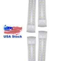 미국 + 8ft 2400mm T8 LED 튜브 조명 높은 슈퍼 밝은 72W 100W 144W 따뜻한 화이트 LED 형광 전구 AC85-265V FCC