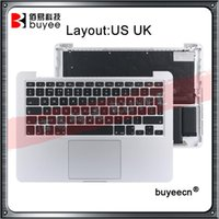 "Orijinal Yeni A1502 Topcase ABD İngiltere Klavye Arka Işık Trackpad Pil Retina Pro 13.3 ""2020 A1502 Laptop Üst Case1"