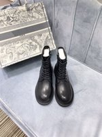 Bottines Cuir Boot Boot Chunky Heel Martin Chaussures Print Plate-forme En Cuir Derce-Up Boot GF201205