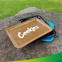 Cookies rolando bandeja plástica tabaco 18x12cm s tamanho pequeno rolo de mão roll rolo de lata bandeja caixa de bandeja de spice placa de desenhos animados fumar novo DHL