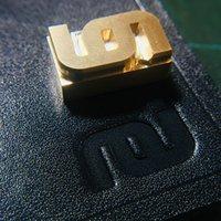 3/4/5/6/7/8 / 9 / 10cm personalizado logotipo de couro de couro de couro de cobre papel de madeira de papel pão bolo morrem aquecer molde