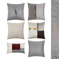 FSislover Light Light Jacquard Cuscino Cuscino Sofà Soft Vita Federa di Alta Qualità Decorativa Casa dei cuscini Casuli Casual