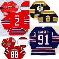 Oshawa Generals Jersey 88 Eric Lindros 2 Bobby Orr 27 Kewin 26 Shane Doyle 31 Dirienzo 91 John Tavares 6 Jimmy McDowell Hockey Jersey