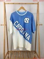 저렴한 사용자 정의 UNC 타르 힐 캐롤라이나 큰 철자 로고 저지 셔츠 야구 유니폼 스티치 여성 청소년 XS-5XL