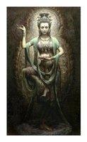 A74 оформленный безграничный китайский Dunhuang Kwan-Yin богиня высококачественные рукоятки HD печать портрет художественная живопись на холсте много размеров D40