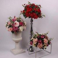 Yeni Stil Gül Yapay Çiçek Topu Ortanca Düğün Masa Yol Kurşun Çiçekler Düğün Centerpiece Ev Dekorasyon 8 Renk