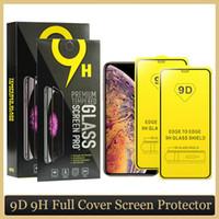 Pour le verre de cellule XS trempé 9D iPhone 11 PRO Couverture Max Paquet Max Protecteur Plein Protecteur XR Screen Screen Phone Max Film ORFKQ Orfkq