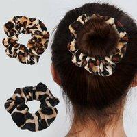 Гладкий коралловый флис бархат классический леопардовый печать насадка для волос эластичные галстуки волос эластичные волосы Женщины Аксессуары для волос Q Sqccea