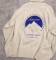 Męskie Swetry 20FW Winter Turtleneck ADER Błąd Sweter Mężczyźni Kobieta Wysokiej Jakości Moda Casual Company Logo Crewneck ADERError Bluzy