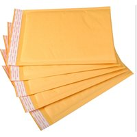 50pcs / lot kraft bolla maiuscole imbottite bolla bolla buste borse di carta busta yellow mailing bag spedizione gratuita Y200709