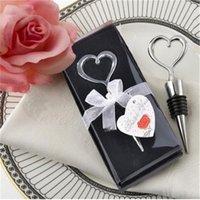 Gold Love Heart Red Wine Bottle Bottle Stopper Champagne Bottle Opener Twist Red Wine Set Favori di nozze