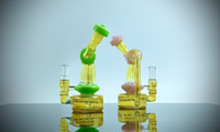 Mini-Eiffel-DAB-Rigg-Glasbong / -HukAh / drei Auslassrohre / brillanter Wasser-Filtereffekt / hervorragendes Rauchenserfahrung / EMS SICHER UND SCHNELLER LIEFERUNG