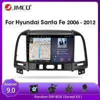 JMCQ for Santa Fe 2006-2012 Android 9.0 Voiture Radio Multimedia Lecteur vidéo multimédia Lecteur audio 2 Din Split Screen RDS Car DVD