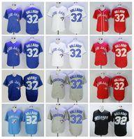 1992 2008 Retire Vintage 32 Roy Halladay Jerseys de béisbol FlexBase Pullover Fresco Base Azul Blanco Rojo Gris Team Pedido Hombres de alta calidad
