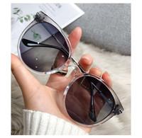 Lunettes de soleil en acétate rondes Mode Womens Lunettes de soleil Véritables lentilles de protection UV pour femmes de luxe pour femmes