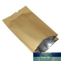 12 * 35 + 6 cm 20pcs / lote Golden Abierto de órgano abierto Bolsa de órgano al vacío Bolsillo de fuelles de aluminio para el almacenamiento de bocadillos de azúcar Mylar Paquete Bolsas