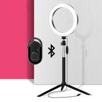 LED RingLight Circle Lampe Selfie Bague Bague avec Bluetooth Remote pour le maquillage Vidéo Photo Studio Éclairage sur YouTube Tiktok