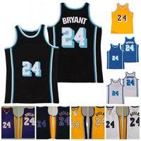 60º 24 Jersey Vintage Nome Nome Número de Basquete Basketball Mesh 71-72 2007 2009