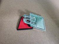 Coche Stying Metal S Logo Sline Emblema Insignia Etiqueta engomada del coche Rojo Negro Frente Parte trasero Ajuste lateral para Q UATTRO TT SQ5 S6 S7 A4 Accesori