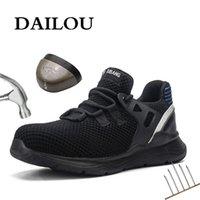 Zapatos de seguridad de los hombres de Dailou con botas de trabajo indestructibles con punta de acero zapatillas de deporte transpirables impermeables zapatos de trabajo LJ200917