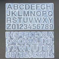 Letra de bricolaje Moldes de silicona Moldes de resina Número de alfabeto Número de silicona Moldes de silicona para hacer llavero Joyería colgante Pastel de azúcar Molde de fundición