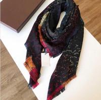 디자이너 양모 실크 스카프 여성을위한 고품질 다채로운 숙 녀 겨울 shawls 스카프 pashmina 패션 긴 반지 140x140cm 선물 dropship a336