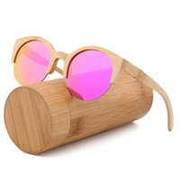 Ручной круглый модные солнцезащитные очки для женщин и мужчин Бамбуковые деревянные очки путешествия пляжные солнцезащитные очки Occhiali da Sole Donna