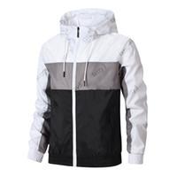 Marke Herren Jacken Mode Windjacke Muster Brief Drucken Dünne Mantel Fußball Fußball Langarm Reißverschluss Sport Jacken Laufende Sportbekleidung