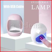 Mini Forma de huevo Fototerapia Lámpara Mini LED Luz de uñas 3W Máquina de fototerapia de uñas para gel Polish Falso Glue Barnish Seco