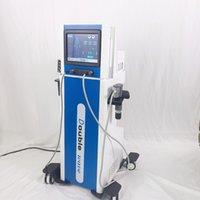 Terapia de onda de choque de doble onda Eswt Shockkwave Máquina con mangos electromáticos y neumáticos para alivio del dolor