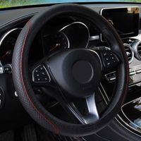 Auto-Lenkrad-Abdeckung skidproof Auto-Lenkrad-Abdeckung Anti-Slip-Universalprägung Leder-Auto-Styling1