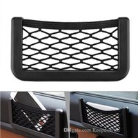 سيارة صافي جيب للمحفظة حامل الهاتف البلاستيك شبكة مطاطي صافي سلسلة سلسلة السيارات مقعد السيارة الجانب الخلفي عصا على التخزين المنظم