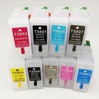 Vilaxh per Stylus Pro 3800 3880 Cartuccia di inchiostro riutilizzabile T5801 T5802 T5803 T5804 T5805 T5806 T5807 T5808 T5806 T5807 T5808 T58091 Cartucce
